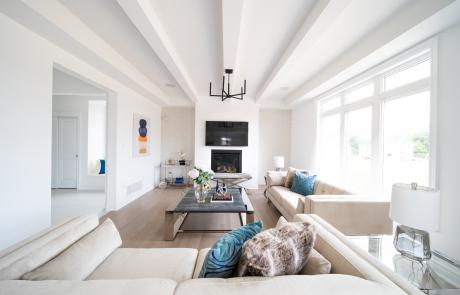 Mountainview Crystal Ridge Ridgeway Homes Iris Great Room Ceiling Beams